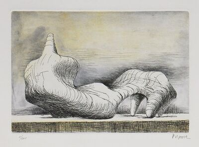 Henry Moore, 'Reclining Figure, Point', 1976