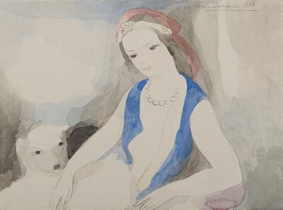 Marie Laurencin, 'Femme au chien', 1938