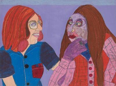 Robbie Tillotson, 'Tourist Meets Purple Lady', 1974