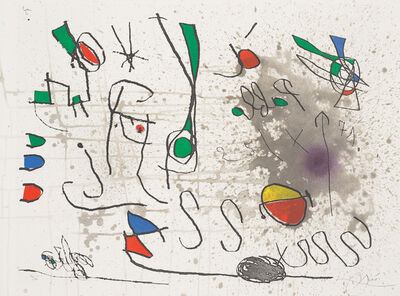 Joan Miró, 'Hommage à Picasso (Homage to Picasso) (D. 565)', 1972