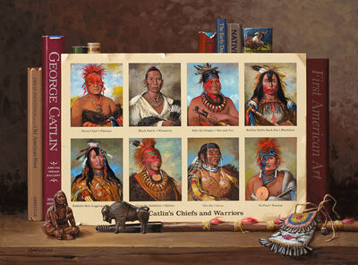 Jenness Cortez, 'Catlin's Chiefs and Warriors - Homage to:  George Catlin (1796-1872)', 2017