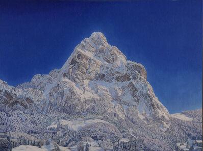 Valentin Roschacher, 'Grosser Mythen (von Brunnen aus) tiefverschneit am frühen Morgen im Winter', 2009