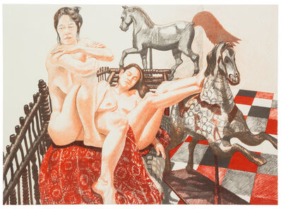 Philip Pearlstein, 'Models and Horses', 1993