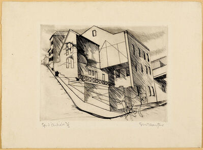 Stanley William Hayter, '2 sheets: La villette Rue de la villette', 1930