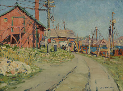 Jane Peterson, 'Gloucester Harbor Scene (The Red House)', 1915-1916