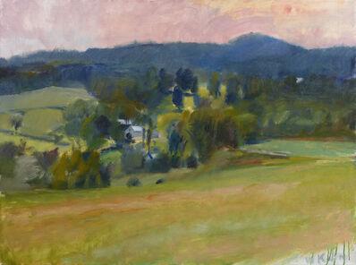 Wolf Kahn, 'Overview on Ames Hill – Midsummer', 1979