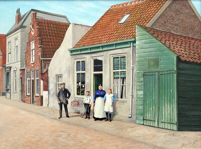 Rob van Assen, 'Posing for the old grocery store in 1910', ca. 2012