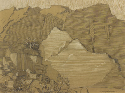 Raymond Jonson, 'Rock Cliff', 1918