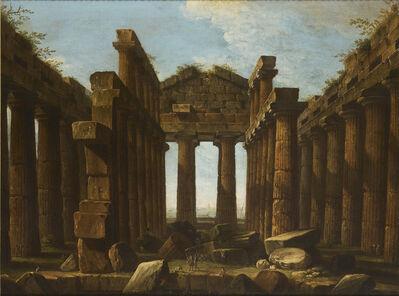 Antonio Joli, 'Interior of the Temple of Poseidon at Paestum', c. 1756-60