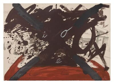 Antoni Tàpies, 'A pair of prints (one plate from Suite Berlin and Arc I Creus)'
