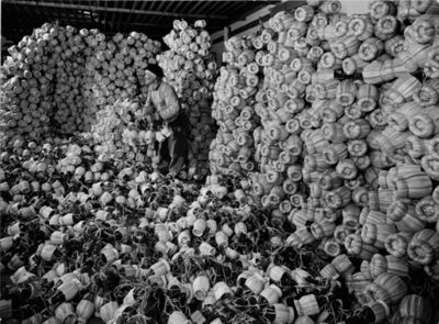 Alfred Eisenstaedt, 'Chianti Flasks in the Storeroom of the Bottling Plant of Barone Ricasoli Vineyards at Brolio, Near Siena, Italy', 1947
