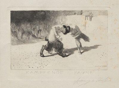 Franz von Stuck, 'Kampfende Faune'