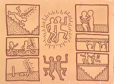 Keith Haring, 'UNTITLED ('BLUEPRINT' JAN 15, 1981)', 1981