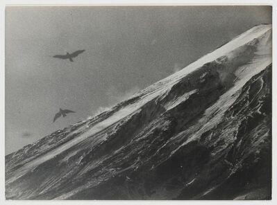 Gen Otsuka 大束 元, 'Mt. Fuji and Birds in Flight', 1953