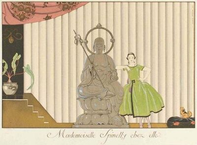 George Barbier, 'Mademoiselle Spinelly chez elle', 1920