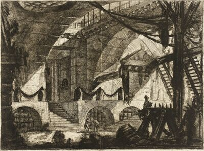 Giovanni Battista Piranesi, 'The Sawhorse', ca. 1761
