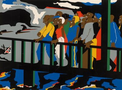 Jacob Lawrence, 'Confrontation at the Bridge', 1975