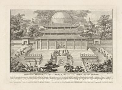 Isidore-Stanislaus-Henri Helman, 'Ceremonies respectueuses de l'Empereur devant les... (plate XXIII)', 1783