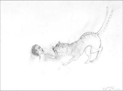 Kiki Smith, 'Tiger Biting Forearm', 2002