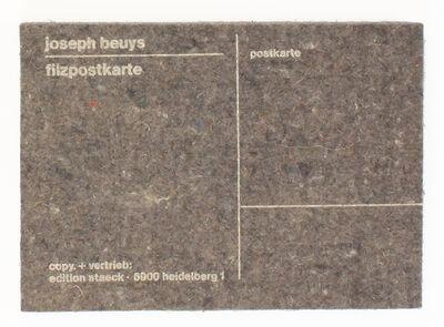 Joseph Beuys, 'Filzpostkarte', Heidelberg: Edition Staeck-1985