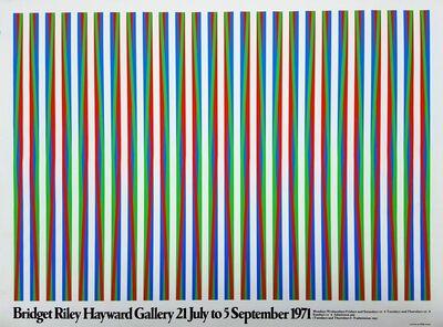 Bridget Riley, 'Hayward Gallery (Firebird)', 1971