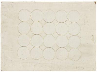 Herbert Zangs, 'Collage Bierdeckel auf Karton', 1953