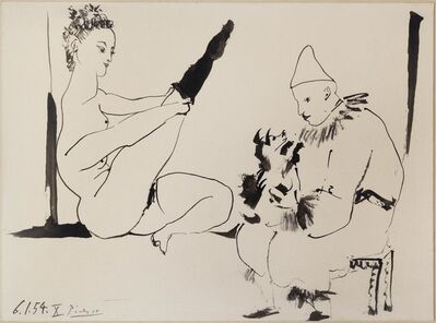 Pablo Picasso, 'Circus People with Dog', 1954