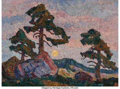 Birger Sandzén, 'Sunset', circa 1923