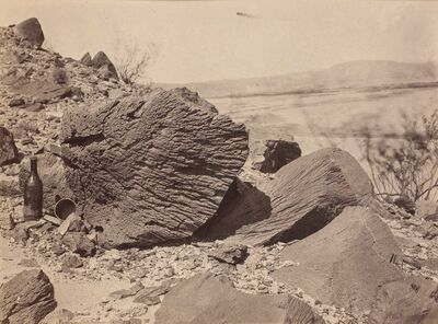 Timothy H. O'Sullivan, 'Rock carved by drifting sand, below Fortification Rock, Arizona'