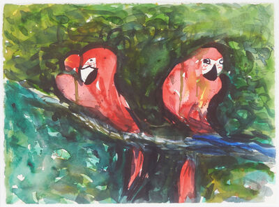 Malcom Morley, 'Untitled (Parrots)', 1998