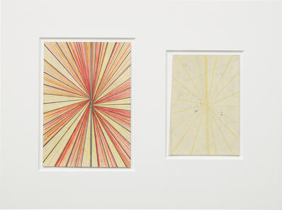 Mark Grotjahn, 'Untitled (CR.CY and Cream Butterfly Blonde Butterfly Drawing in Two Parts)', 2009