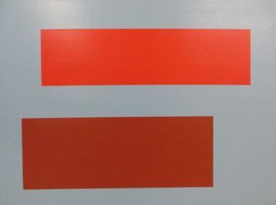 Tom McGlynn, 'Decal (Red + Brown on Blue)', 2015