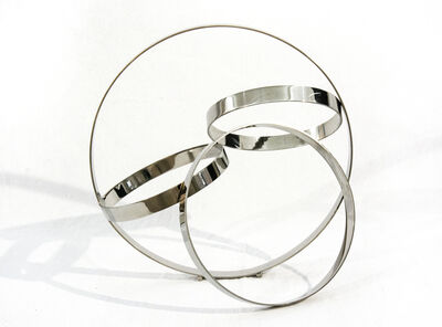 Philippe Pallafray, 'Four Ring Polished Stainless Steel Temps Zero', 2019