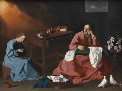 Francisco de Zurbarán, 'Christ and the Virgin in the House at Nazareth', c. 1640