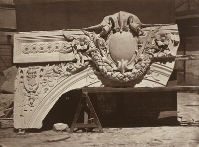 Louis-Emile Durandelle, 'Ornamental Sculpture from the Paris Opera House (Arch Detail)', 1865