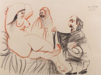 Pablo Picasso, 'Desnudo Feminino con Figuras', 1968