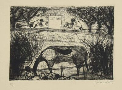 Nazareno Gattamenata, 'Landscape ', Late 20th Century