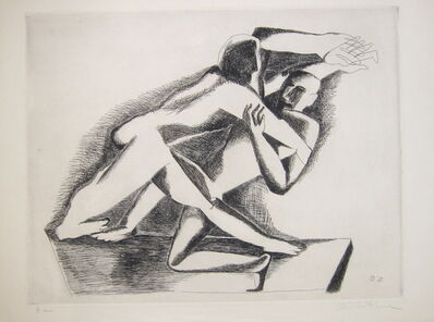 Ossip Zadkine, 'Two Figures', 1970
