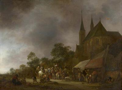 Isack van Ostade, 'A Village Fair with a Church behind', 1643