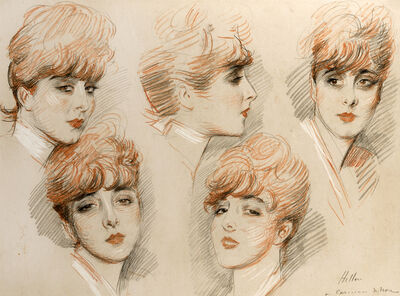 Paul César Helleu, 'Five Studies of Suzanne', Early 20th Century