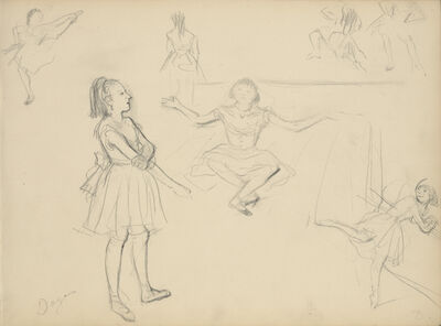 Edgar Degas, 'Ballet Dancers Rehearsing', 1877