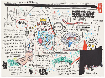 Jean-Michel Basquiat, 'King Brand', 1982-2005