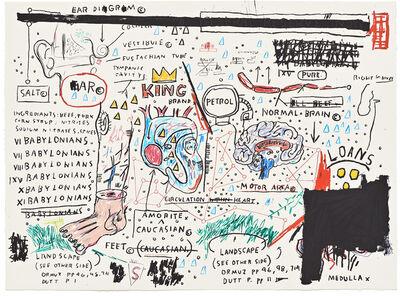 Jean-Michel Basquiat, 'King Brand', 1982-2005