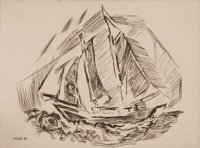 John Marin (1870-1953), 'Untitled (Sailboat)', 1932