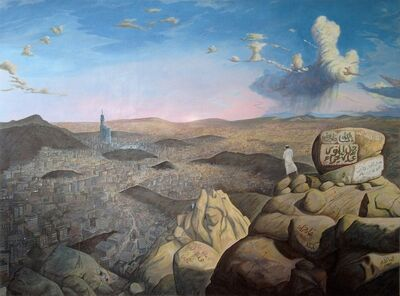 Sandow Birk, 'A View of the City of Mecca from Jabal al-Nour and the Cave of Hira', 2014