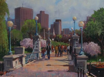 Frederick Kubitz, 'Spring Foot Bridge, Boston Public Garden', 2018