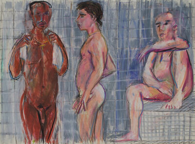 Patrick Angus, 'Three Men in the Steam Room', 1988