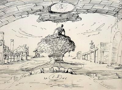 Eugene Berman, 'Man in Fantasy Landscape ', 1946