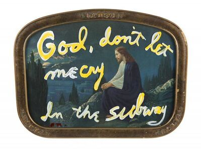 Rene Ricard, 'God, Don't Let Me Cry in The Subway', ca. 1990