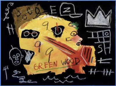 Jean-Michel Basquiat, 'Green Wood Side Profile', ca. 1980